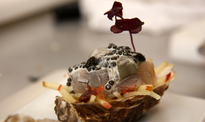 Recette de crevette l 39 atelier guy martin paris ambre de - Cours de cuisine guy martin ...
