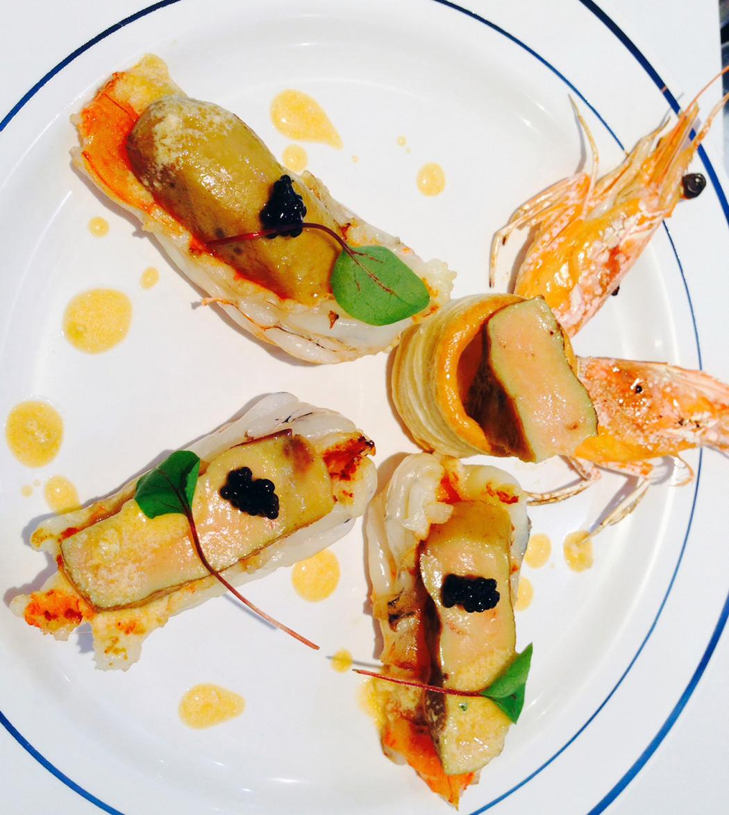 Variation d'Obsiblue et foie gras